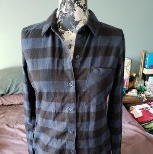 Alternative apparel flannel button down dress sz S
